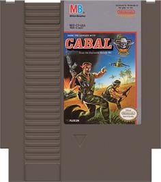 Cartridge artwork for Cabal on the Nintendo NES.