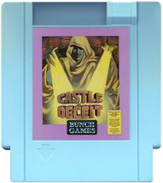 Cartridge artwork for Castle of Deceit on the Nintendo NES.