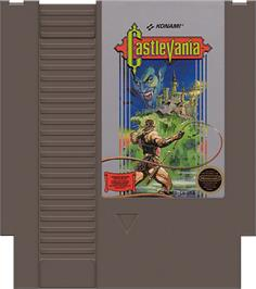 Cartridge artwork for Castlevania on the Nintendo NES.
