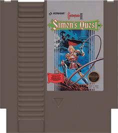 Cartridge artwork for Castlevania 2: Simon's Quest on the Nintendo NES.