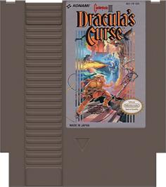 Cartridge artwork for Castlevania III: Dracula's Curse on the Nintendo NES.