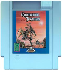 Cartridge artwork for Challenge of the Dragon on the Nintendo NES.