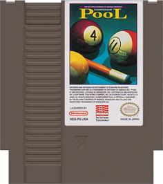 Cartridge artwork for Championship Pool on the Nintendo NES.