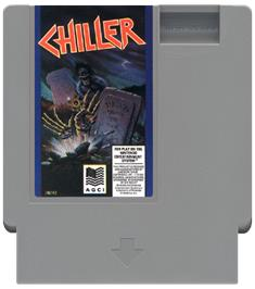 Cartridge artwork for Chiller on the Nintendo NES.