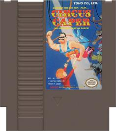 Cartridge artwork for Circus Caper on the Nintendo NES.