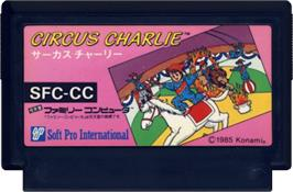 Cartridge artwork for Circus Charlie on the Nintendo NES.