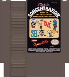 Cartridge artwork for Classic Concentration on the Nintendo NES.