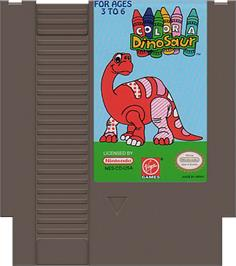 Cartridge artwork for Color a Dinosaur on the Nintendo NES.