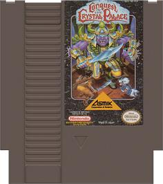 Cartridge artwork for Conquest of the Crystal Palace on the Nintendo NES.