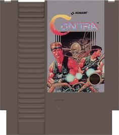 Cartridge artwork for Contra on the Nintendo NES.
