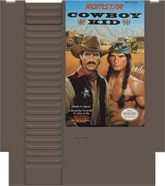 Cartridge artwork for Cowboy Kid on the Nintendo NES.