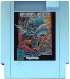 Cartridge artwork for Crystal Mines on the Nintendo NES.