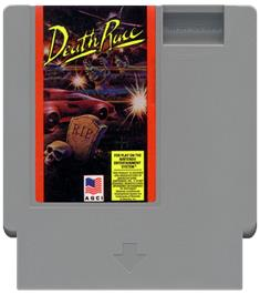 Cartridge artwork for Death Race on the Nintendo NES.
