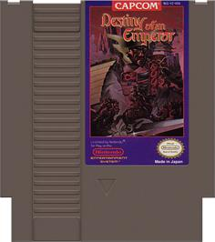 Cartridge artwork for Destiny of an Emperor on the Nintendo NES.