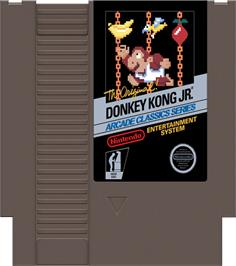 Cartridge artwork for Donkey Kong Junior on the Nintendo NES.