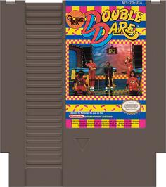 Cartridge artwork for Double Dare on the Nintendo NES.