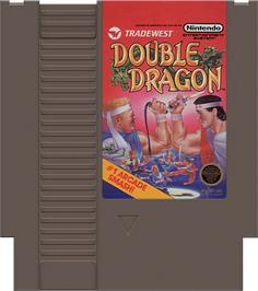 Cartridge artwork for Double Dragon on the Nintendo NES.