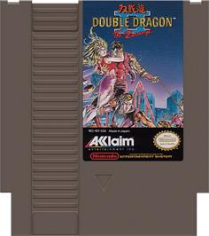 Cartridge artwork for Double Dragon II - The Revenge on the Nintendo NES.