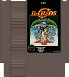 Cartridge artwork for Dr. Chaos on the Nintendo NES.