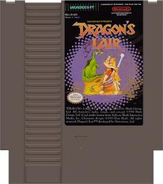 Cartridge artwork for Dragon's Lair on the Nintendo NES.