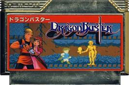 Cartridge artwork for Dragon Buster on the Nintendo NES.