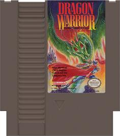 Cartridge artwork for Dragon Warrior on the Nintendo NES.