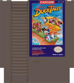 Cartridge artwork for Duck Tales on the Nintendo NES.