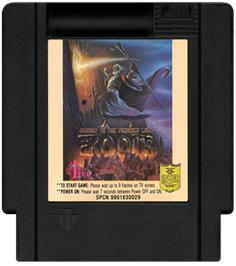 Cartridge artwork for Exodus: Journey to the Promised Land on the Nintendo NES.