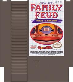 Cartridge artwork for Family Feud on the Nintendo NES.
