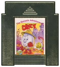 Cartridge artwork for Fantastic Adventures of Dizzy on the Nintendo NES.