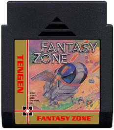 Cartridge artwork for Fantasy Zone on the Nintendo NES.