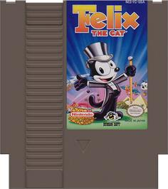 Cartridge artwork for Felix the Cat on the Nintendo NES.