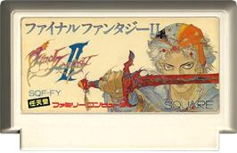 Cartridge artwork for Final Fantasy 2 on the Nintendo NES.