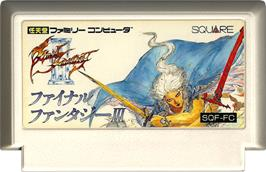 Cartridge artwork for Final Fantasy 3 on the Nintendo NES.