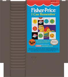 Cartridge artwork for Fisher-Price: I Can Remember on the Nintendo NES.