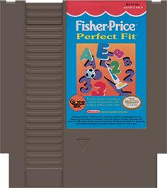 Cartridge artwork for Fisher-Price: Perfect Fit on the Nintendo NES.