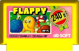 Cartridge artwork for Flappy on the Nintendo NES.