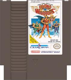 Cartridge artwork for Flying Warriors on the Nintendo NES.