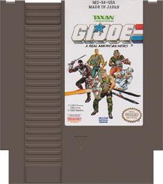 Cartridge artwork for G.I. Joe: A Real American Hero on the Nintendo NES.