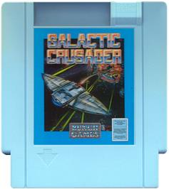 Cartridge artwork for Galactic Crusader on the Nintendo NES.