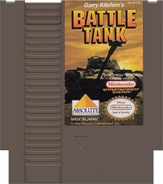 Cartridge artwork for Garry Kitchen's Battletank on the Nintendo NES.