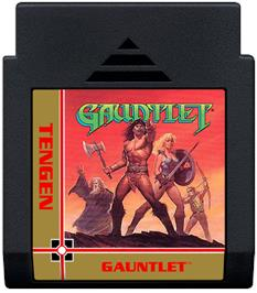 Cartridge artwork for Gauntlet on the Nintendo NES.