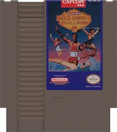 Cartridge artwork for Gold Medal Challenge '92 on the Nintendo NES.