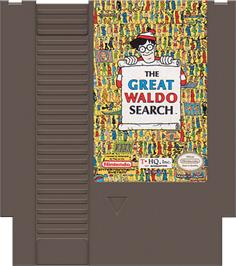 Cartridge artwork for Great Waldo Search on the Nintendo NES.