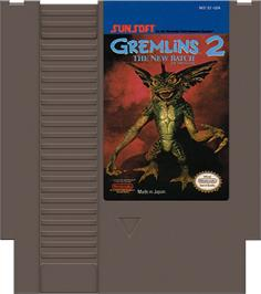 Cartridge artwork for Gremlins 2: The New Batch on the Nintendo NES.