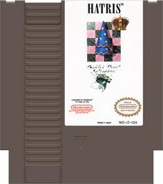 Cartridge artwork for Hatris on the Nintendo NES.