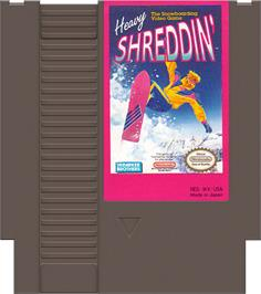 Cartridge artwork for Heavy Shreddin' on the Nintendo NES.