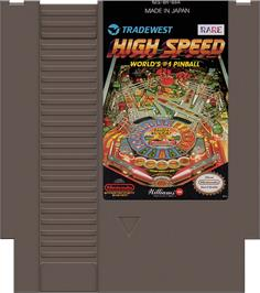 Cartridge artwork for High Speed on the Nintendo NES.