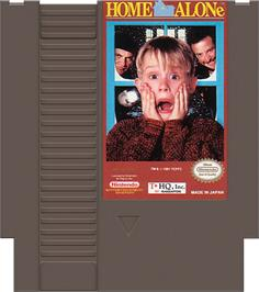 Cartridge artwork for Home Alone on the Nintendo NES.