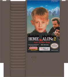 Cartridge artwork for Home Alone 2: Lost in New York on the Nintendo NES.